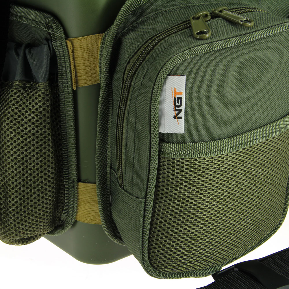 NGT 'Session' Seat Box System with Canvas Rucksack Overcoat