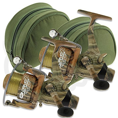 Spare Spool Carp Fishing 2 x Dynamic 4000 Free Runner Reels Twin Handle 10 BB