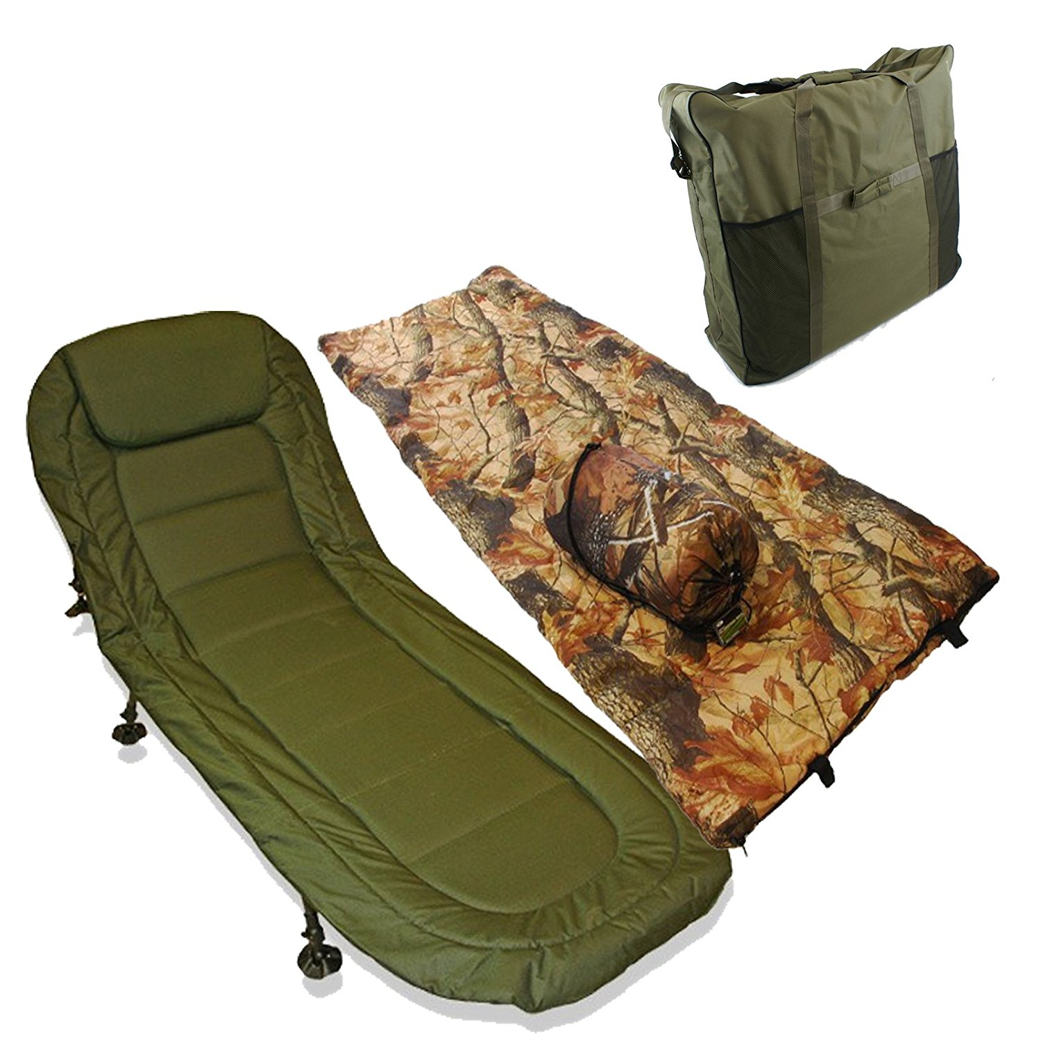 Carp Fishing Bed Chair Bedchair Sleeping Bag Deal Night ...